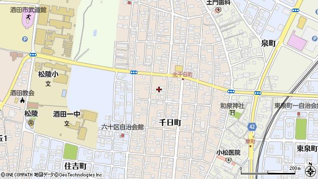 山形県酒田市千日町15周辺の地図