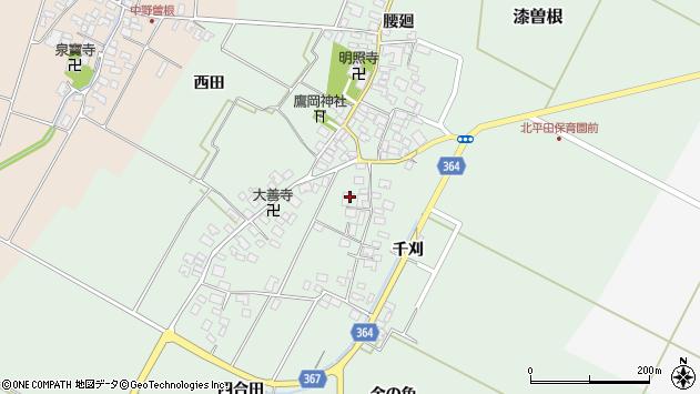 山形県酒田市漆曽根四合田47周辺の地図