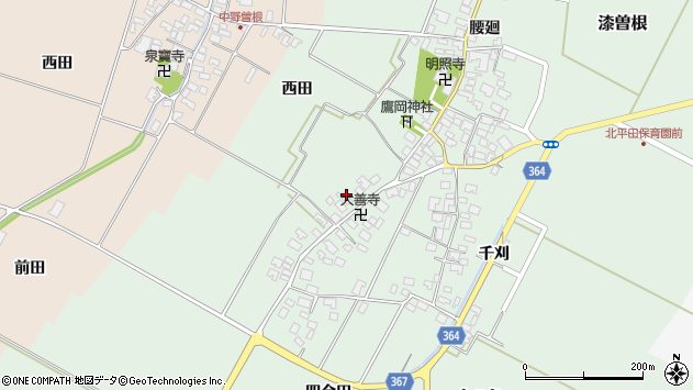 山形県酒田市漆曽根四合田137周辺の地図