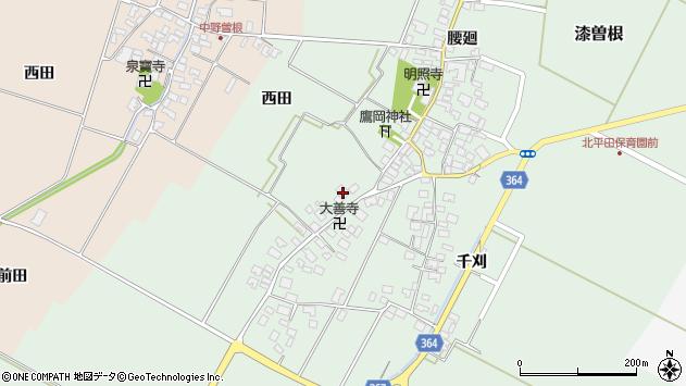 山形県酒田市漆曽根四合田135周辺の地図