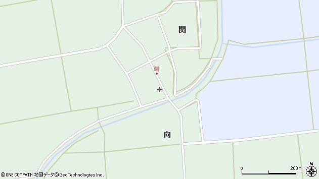 山形県酒田市関村の内140周辺の地図