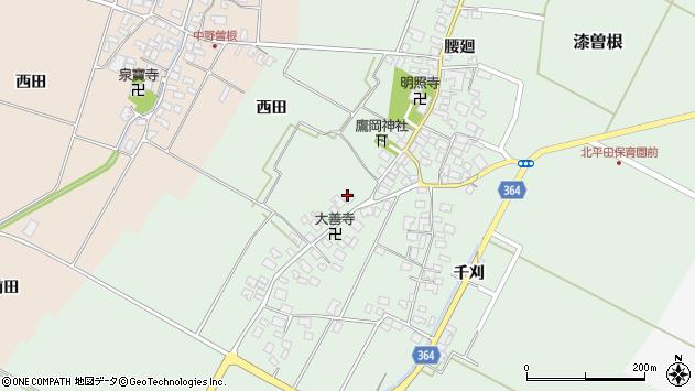 山形県酒田市漆曽根四合田133周辺の地図