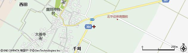 山形県酒田市漆曽根千刈29周辺の地図