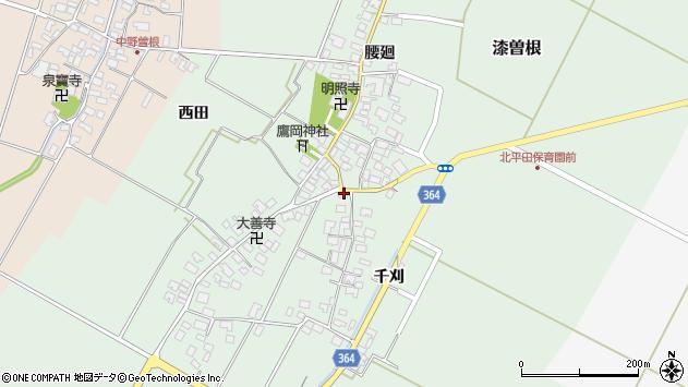 山形県酒田市漆曽根四合田49周辺の地図