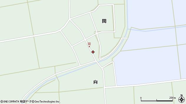 山形県酒田市関村の内77周辺の地図