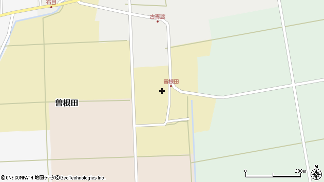 山形県酒田市曽根田大坪周辺の地図