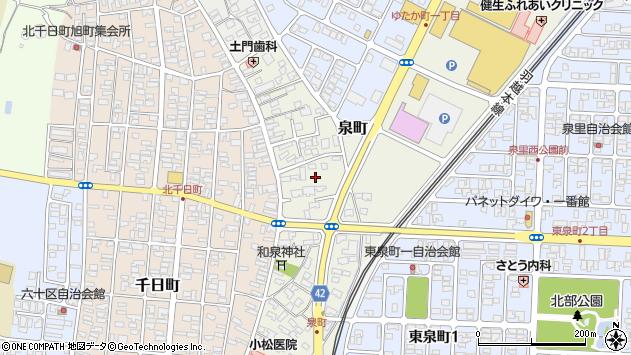 山形県酒田市泉町9周辺の地図