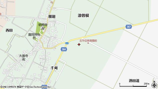 山形県酒田市漆曽根千刈周辺の地図