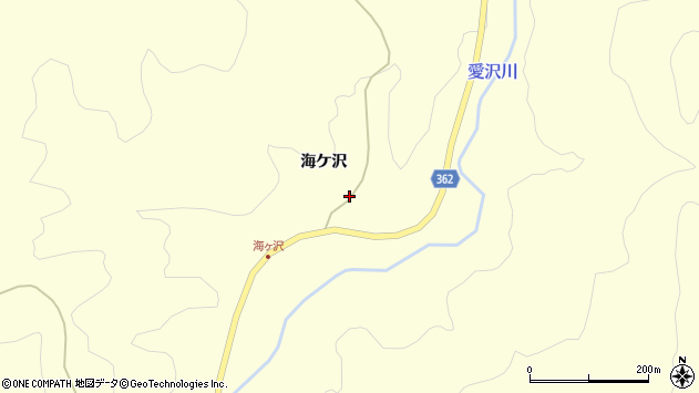 山形県酒田市北俣海ケ沢48周辺の地図