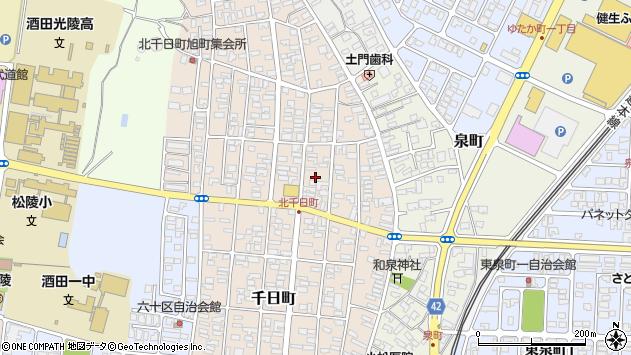 山形県酒田市北千日町4周辺の地図