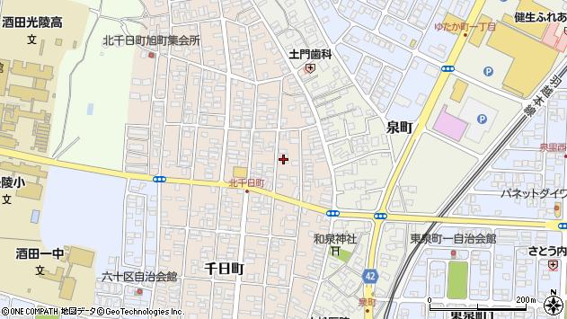 山形県酒田市北千日町周辺の地図