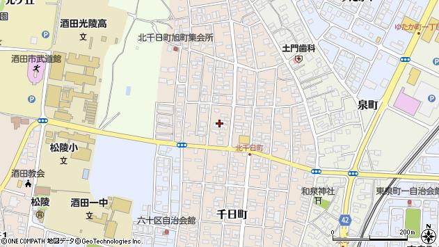 山形県酒田市北千日町11周辺の地図