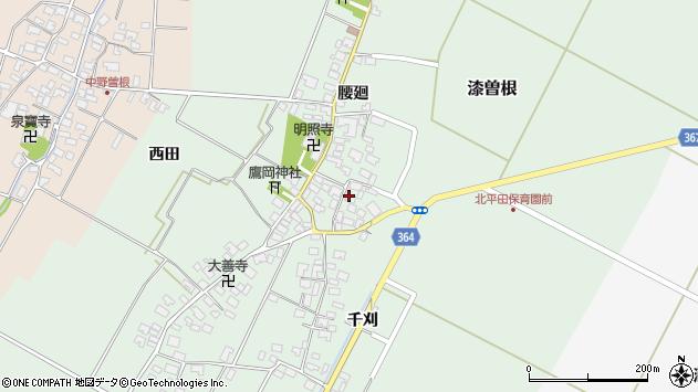 山形県酒田市漆曽根腰廻19周辺の地図