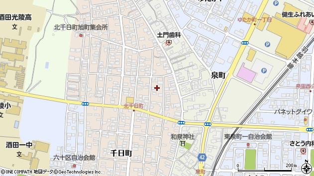 山形県酒田市北千日町3周辺の地図