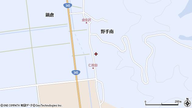 山形県酒田市北沢野手南5周辺の地図