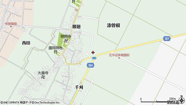 山形県酒田市漆曽根亀田周辺の地図