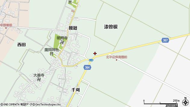 山形県酒田市漆曽根亀田59周辺の地図