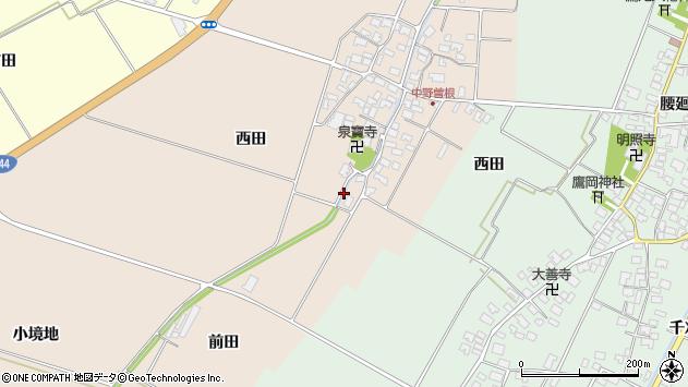 山形県酒田市中野曽根前田51周辺の地図