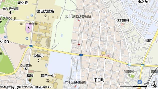 山形県酒田市北千日町18周辺の地図