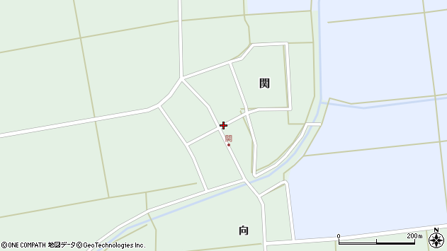 山形県酒田市関村の内83周辺の地図
