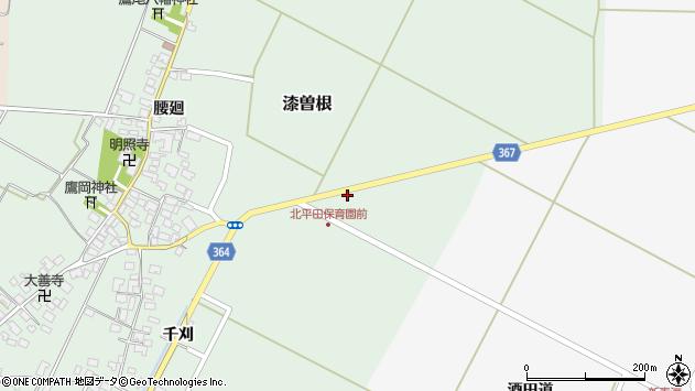 山形県酒田市漆曽根千刈4周辺の地図