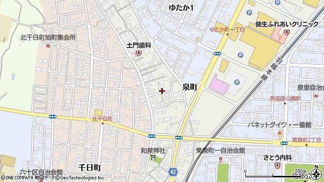 山形県酒田市泉町10周辺の地図