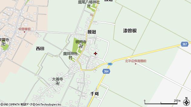 山形県酒田市漆曽根腰廻26周辺の地図