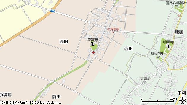 山形県酒田市中野曽根前田49周辺の地図