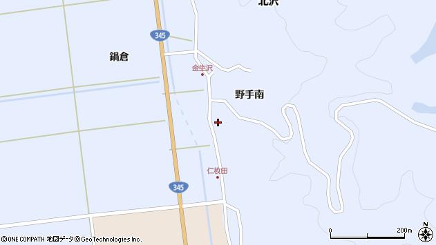 山形県酒田市北沢野手南46周辺の地図