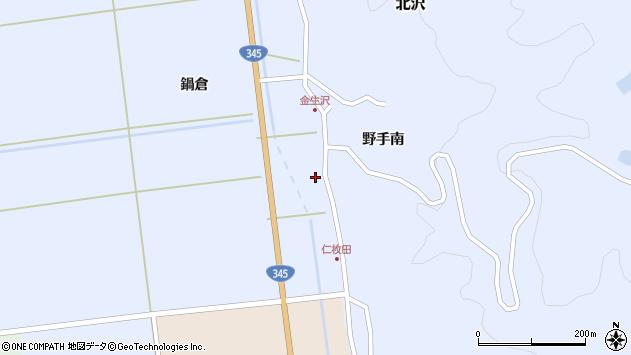 山形県酒田市北沢鍋倉452周辺の地図