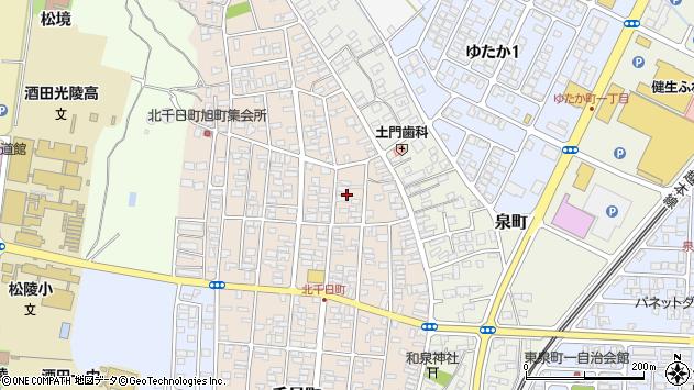 山形県酒田市北千日町5周辺の地図