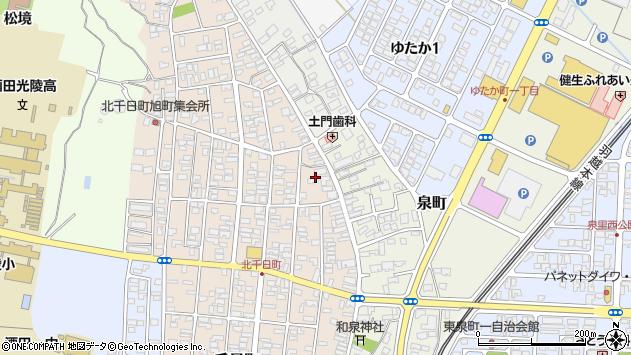 山形県酒田市北千日町2周辺の地図