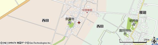 山形県酒田市中野曽根前田29周辺の地図