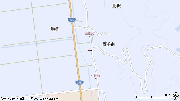 山形県酒田市北沢鍋倉407周辺の地図