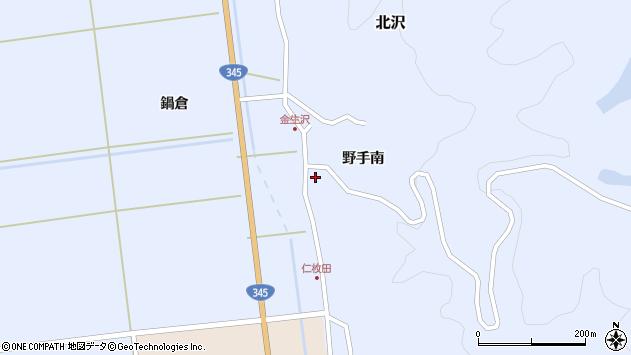 山形県酒田市北沢野手南47周辺の地図