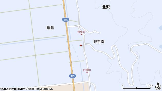 山形県酒田市北沢鍋倉406周辺の地図