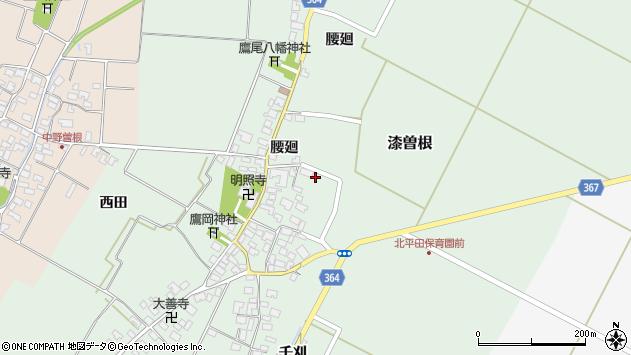 山形県酒田市漆曽根腰廻36周辺の地図