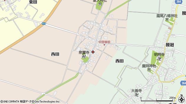 山形県酒田市中野曽根前田周辺の地図