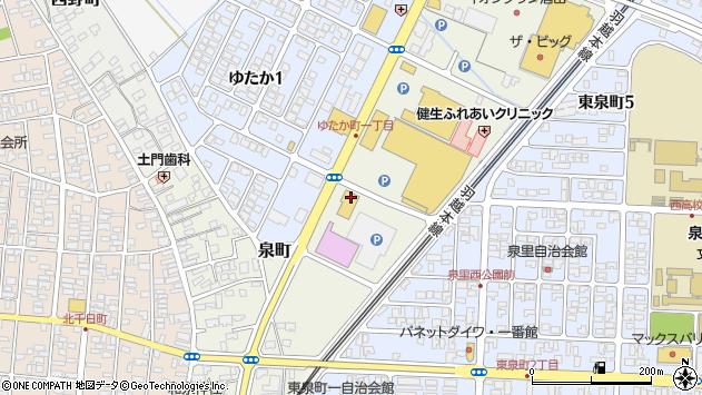 山形県酒田市泉町23周辺の地図