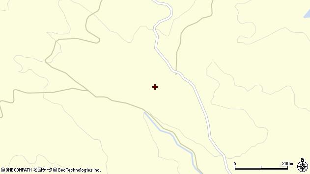 山形県酒田市北俣西峯周辺の地図
