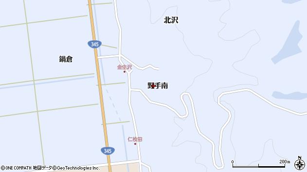山形県酒田市北沢野手南55周辺の地図