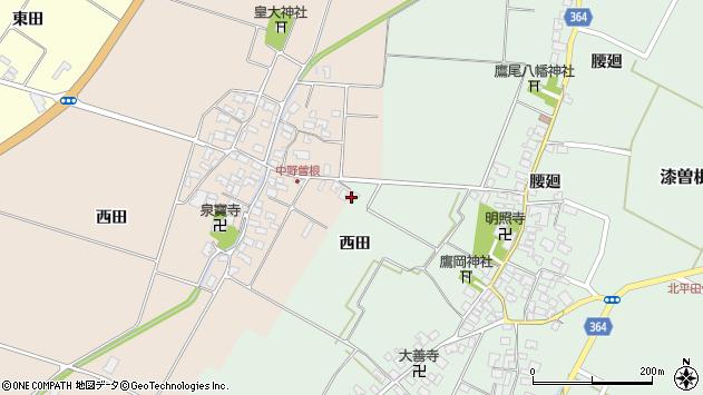 山形県酒田市漆曽根西田73周辺の地図