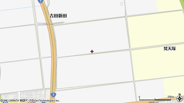 山形県酒田市吉田新田南割周辺の地図
