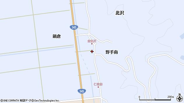 山形県酒田市北沢野手南124周辺の地図