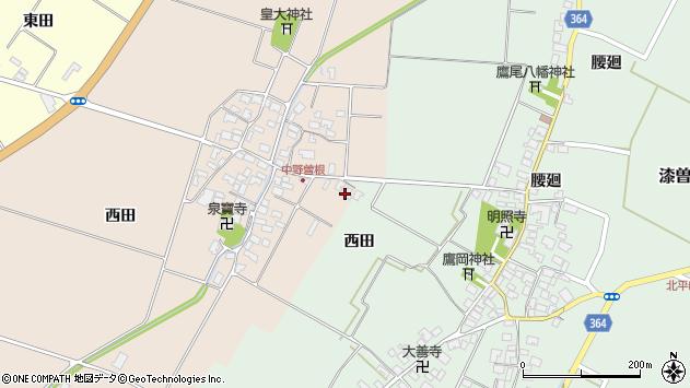 山形県酒田市中野曽根前田3周辺の地図