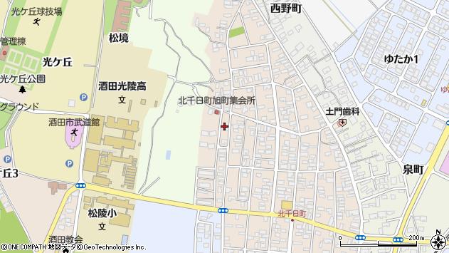 山形県酒田市北千日町17周辺の地図