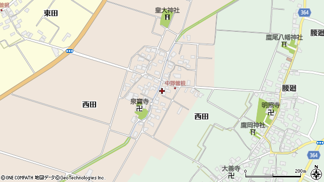 山形県酒田市中野曽根前田15周辺の地図
