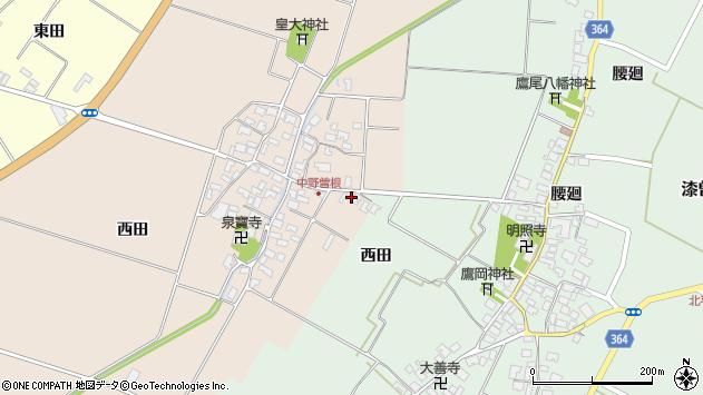 山形県酒田市中野曽根前田10周辺の地図