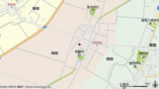 山形県酒田市中野曽根西田109周辺の地図