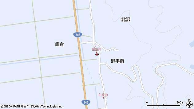 山形県酒田市北沢野手南123周辺の地図
